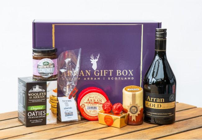 Deluxe Arran Gold Lover Arran Gift Box